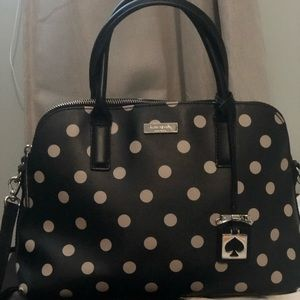 Used Kate Spade Black and white polka dot purse